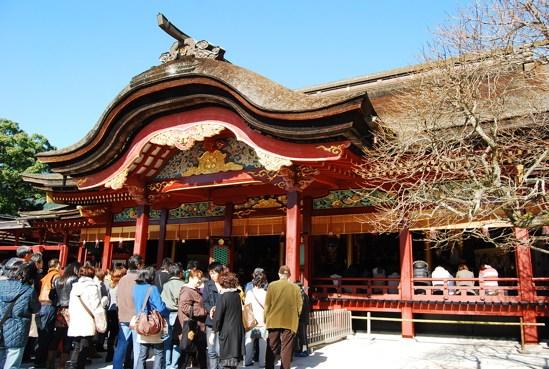 太宰府天滿宮正殿,這建築物可追溯到1591年。