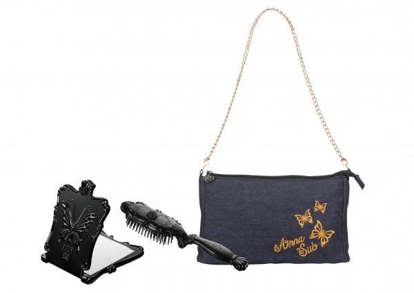 ANNA SUI美妝工具套裝 包含魔法摺梳、經典魔鏡及輕巧手袋 (原價 HK$575,外遊價 HK$328)