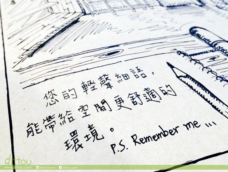 牆壁到菜單都是很可愛的插畫和手寫文字說明。