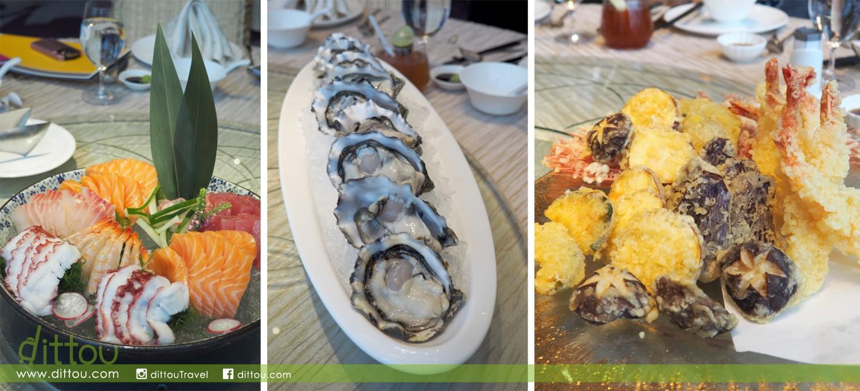 因為是海鮮自助晚餐,刺身、生蠔和天婦羅也不少得。