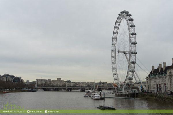 在倫敦之眼下‧放晴