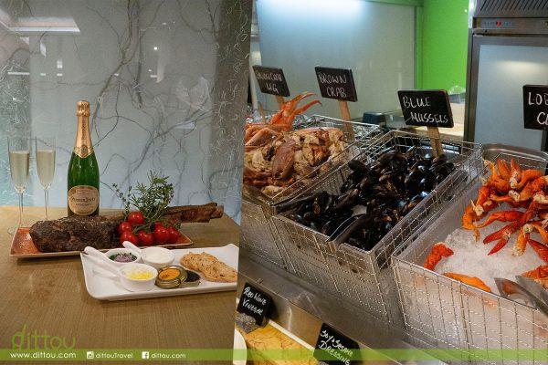 魚子醬、斧頭扒或巴黎之花香檳?萬麗咖啡室節日自助餐